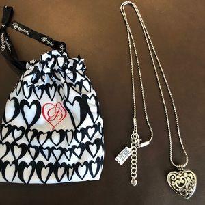 Brighton Heart Badge Clip Necklace
